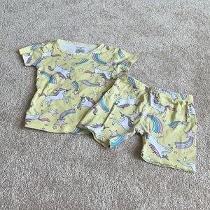 Unicorns and Rainbows Pajama Set 4T